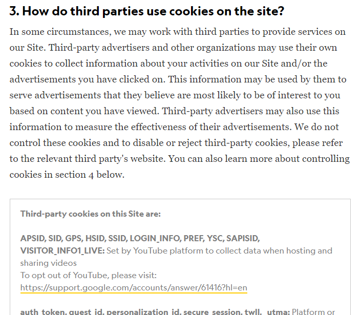 GDPR Compliant Cookie Policy - NG