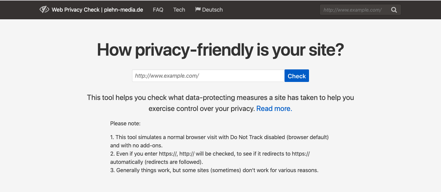 Web Privacy Check Cookie Checker
