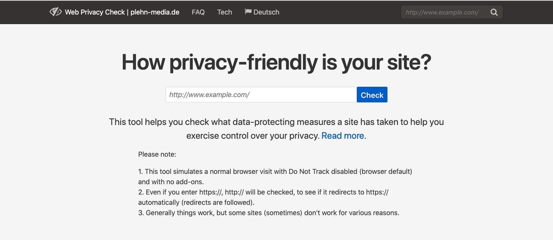 Web Privacy Check Cookie Checker