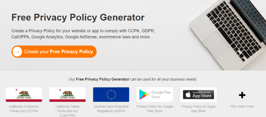 GDPR privacy policy generator
