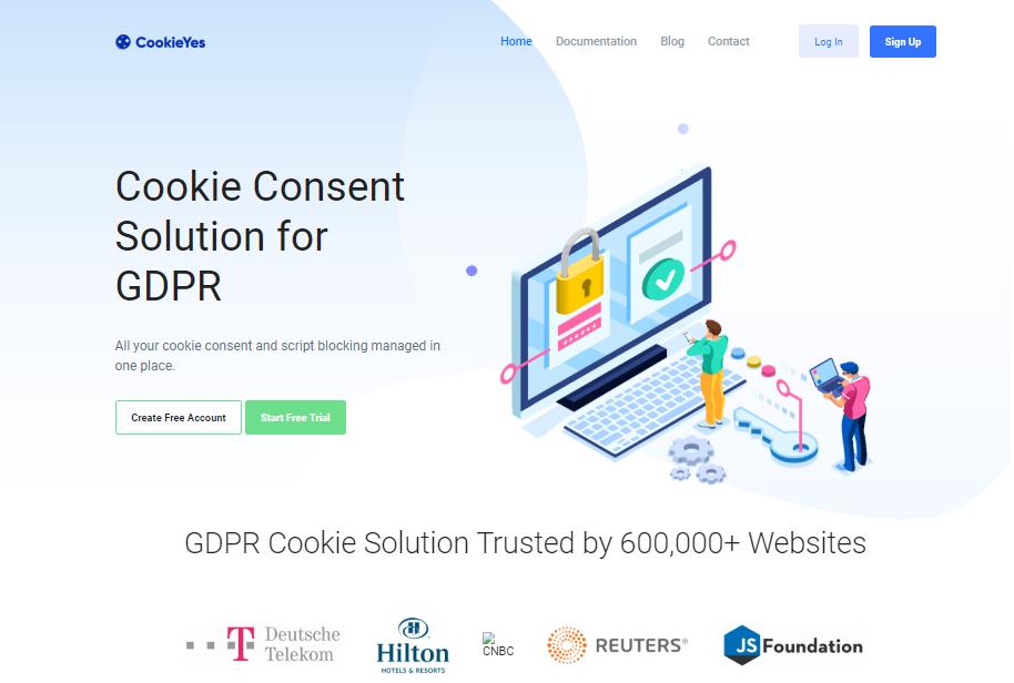 CookieYes Homepage