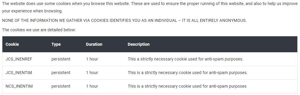 CookieYes Cookie Details