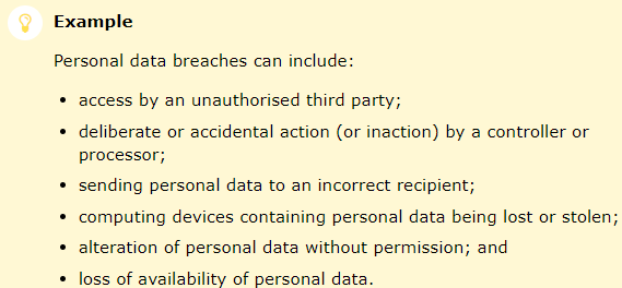 Personal data breaches - ICO