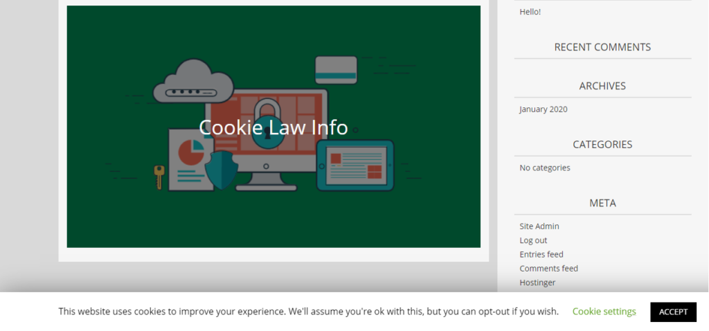 GDPR Cookie Consent banner