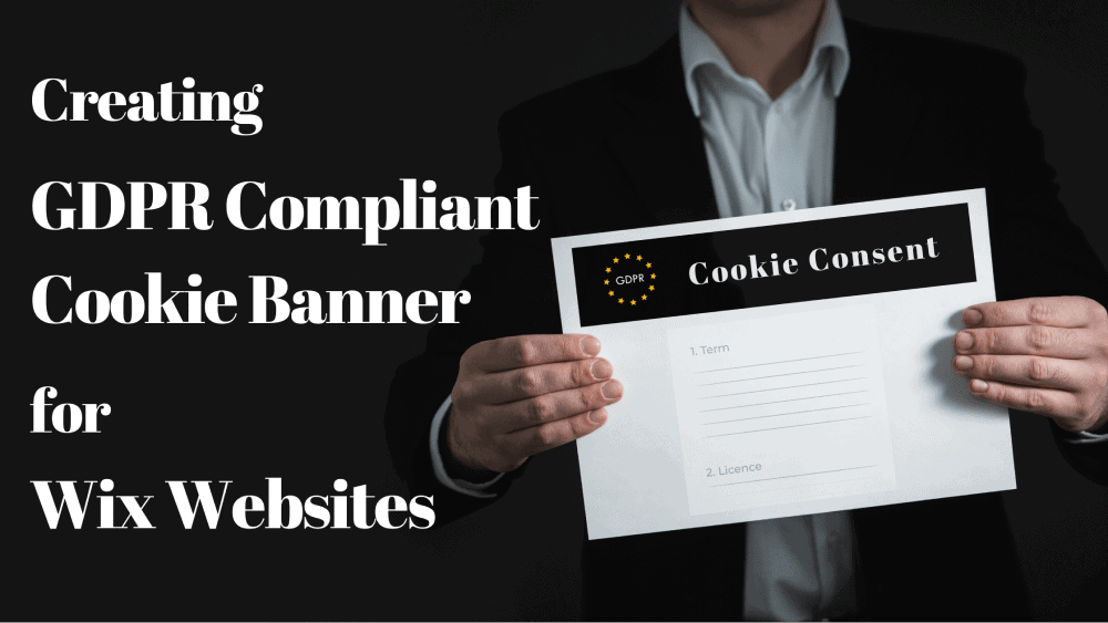 Creating GDPR compliant cookie banner for Wix websites